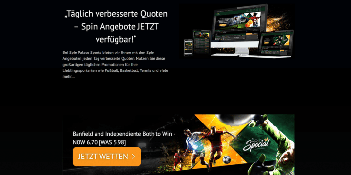 Spin Palace Sports Quoten Boost