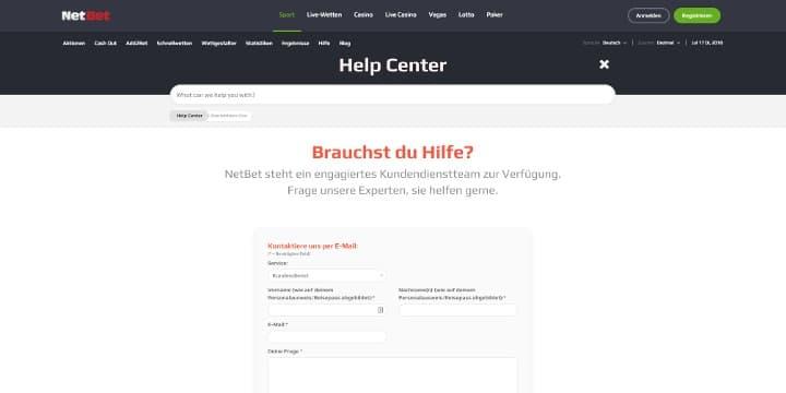 Kundendienst NetBet