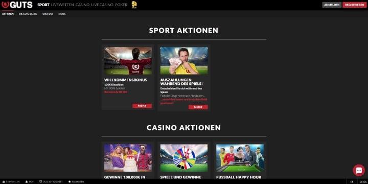 Guts.com Aktionen