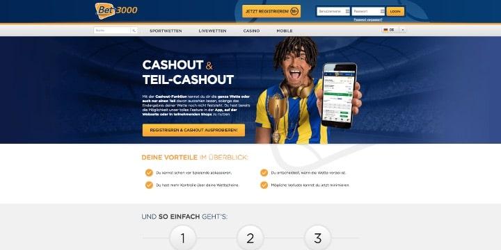 Cash Out Bet3000